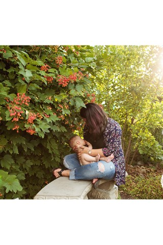 Nursing portrait of Mother and Baby during World Breastfeeding week, photographed by Adored by Meghan
