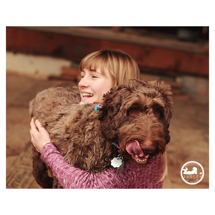 Dogs definitely have a personality, showing it off during a photo session with Adored by Meghan, Tri-Cities, WA.