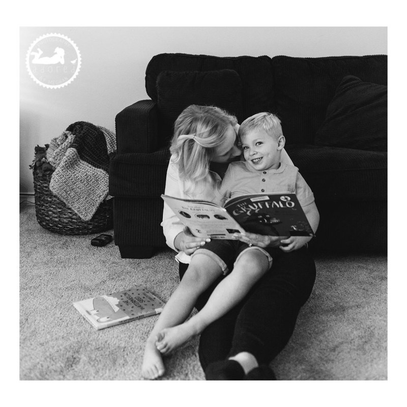 Reading with Mom. Adored by Meghan, Kennewick, WA photographer.
