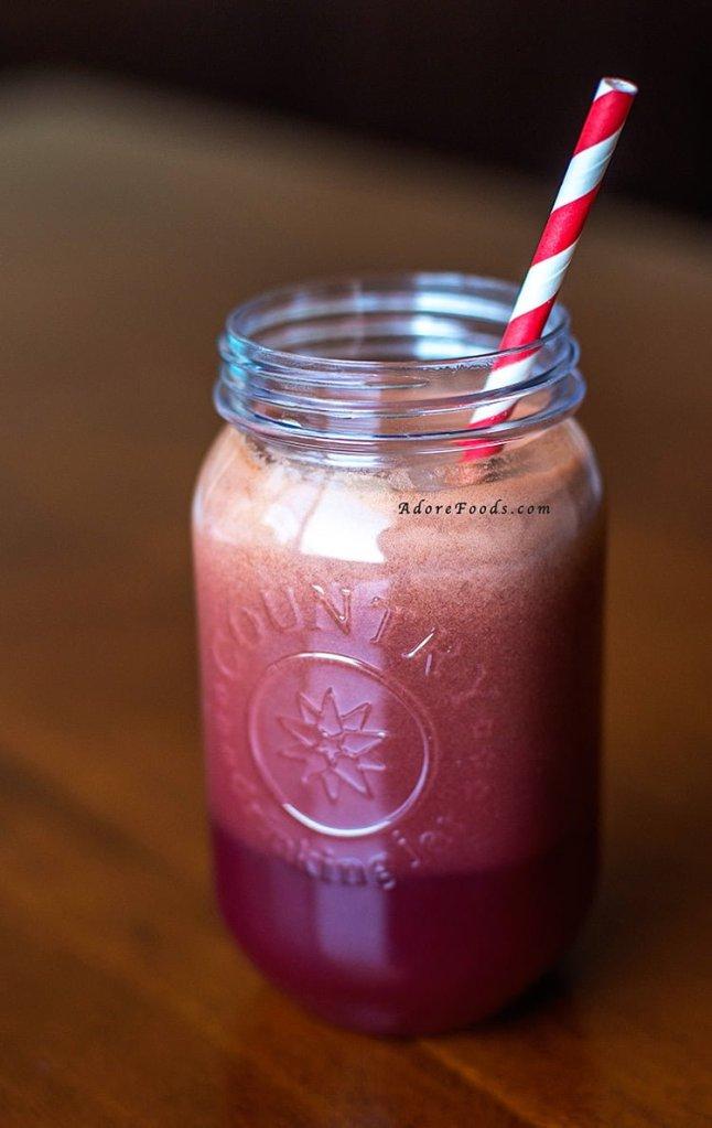 Blackberries & Kale Juice