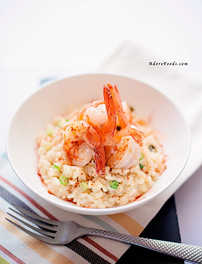 how to make Garlic Prawns Risotto