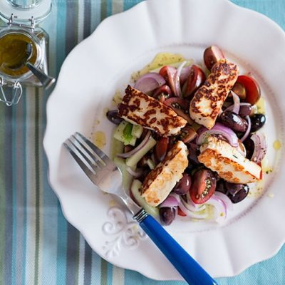 Greek Salad with Pan fried Halloumi | Adore Foods