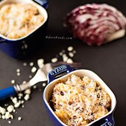 Baked pasta with Radicchio and Blue Cheese Sauce