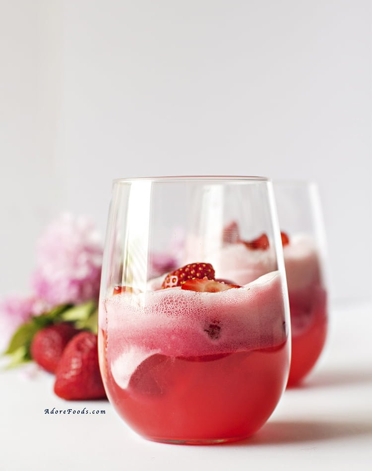 Easy Strawberry Sorbet Float Recipe