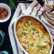 Easy One Pan Baked Gnocchi with Prosciutto and Leeks