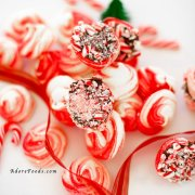 Chocolate Dipped Candy Cane Peppermint Meringue