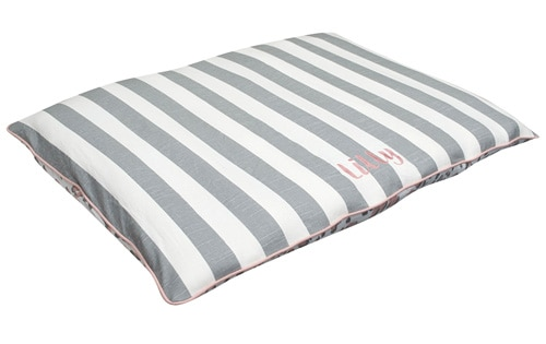 pillow bed large dog bed grey stripe