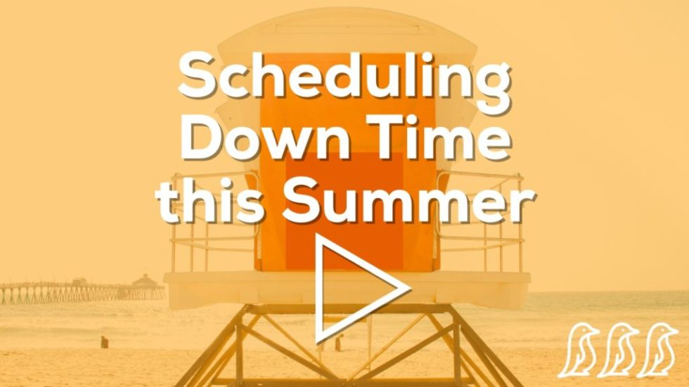 Scheduling Down Time this Summer