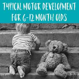 Typical Motor Development for 6-12 Month Olds
