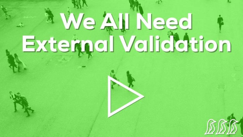 we all need external validation