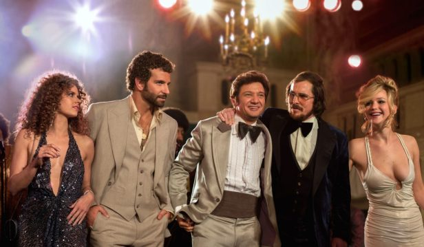 (l to r) Amy Adams, Bradley Cooper, Jeremy Renner, Christian Bale and Jennifer Lawrence in Columbia Pictures' AMERICAN HUSTLE., (l to r) Amy Adams, Bradley Cooper, Jeremy Renner, Christian Bale and Jennifer Lawrence in Columbia Pictures' AMERICAN HUSTLE. (l to r) Amy Adams, Bradley Cooper, Jeremy Renner, Christian Bale and Jennifer Lawrence in (l to r) Amy Adams, Bradley Cooper, Jeremy Renner, Christian Bale and Jennifer Lawrence in (l to r) Amy Adams, Bradley Cooper, Jeremy Renner, Christian Bale and Jennifer Lawrence in