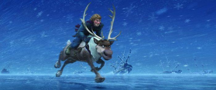 Szenenbild aus FROZEN - DIE EISKÖNIGIN - Kristoff und Sven - © 2013 Disney. All Rights Reserved.