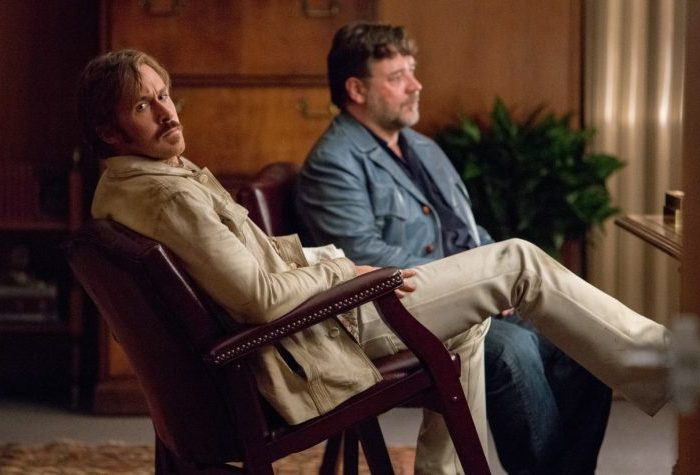 THE NICE GUYS - Jackson Healy (Russell Crowe) und Holland March (Ryan Gosling), - © Concorde Filmverleih