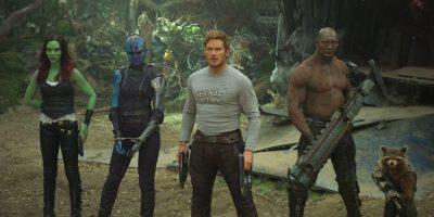 Gamora (Zoe Saldana), Nebula (Karen Gillan), Star-Lord (Chris Pratt), Drax (Dave Bautista) and Rocket (Stimme von Bradley Cooper) - ©Marvel Studios 2017