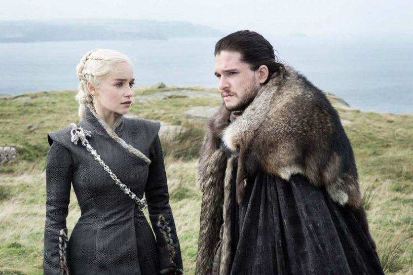Filmstill Game of Thrones Staffel 7 - Daenarys (Emilia Clarke) und Jon (Kit Harrington)- © HBO