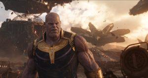 Szenenbild aus Marvels AVENGERS: INFINITY WAR (2018) - Endgegner Thanos (Josh Brolin)..Photo: Film Frame.©Marvel Studios 2018