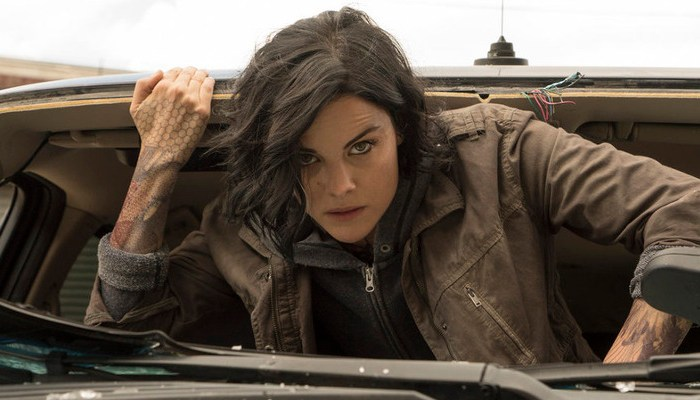 """BLINDSPOT -- """"A Stray Howl"""" Episode 102 -- Pictured: Jaimie Alexander as Jane Doe -- (Photo by: Virginia Sherwood/NBC)"""