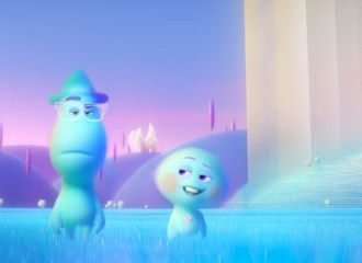 Szenenbild aus SOUL - Joe Gardener (Jamie Foxx) und Seele 22 (Tina Fey)- ©2020 Disney/Pixar. All rights reserved.