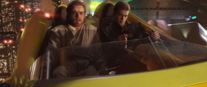 Szenenbild aus STAR WARS: EPISODE 2 - ATTACK OF THE CLONES - Obi-Wan Kenobi (Ewan McGregor) und Anakin (Hayden Christensen) - © Lucasfilm