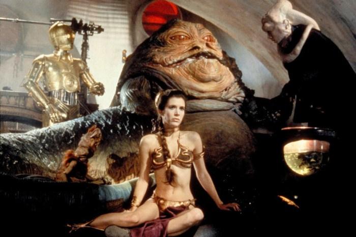 Szenenbild aus STAR WARS: EPISODE 6 - RETURN OF THE JEDI - Jabba the Hutt hat Leia (Carrie Fisher) gefangen genommen. - © 20th Century Fox