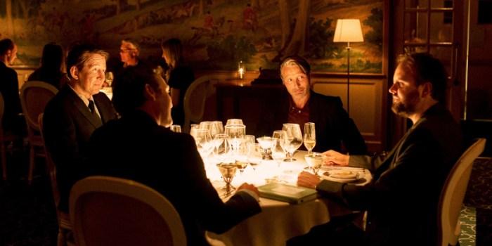 Szenenbild aus DRUK - DER RAUSCH - Die Idee entsteht bei einem gemeinsamen Abendessen. - © Weltkino