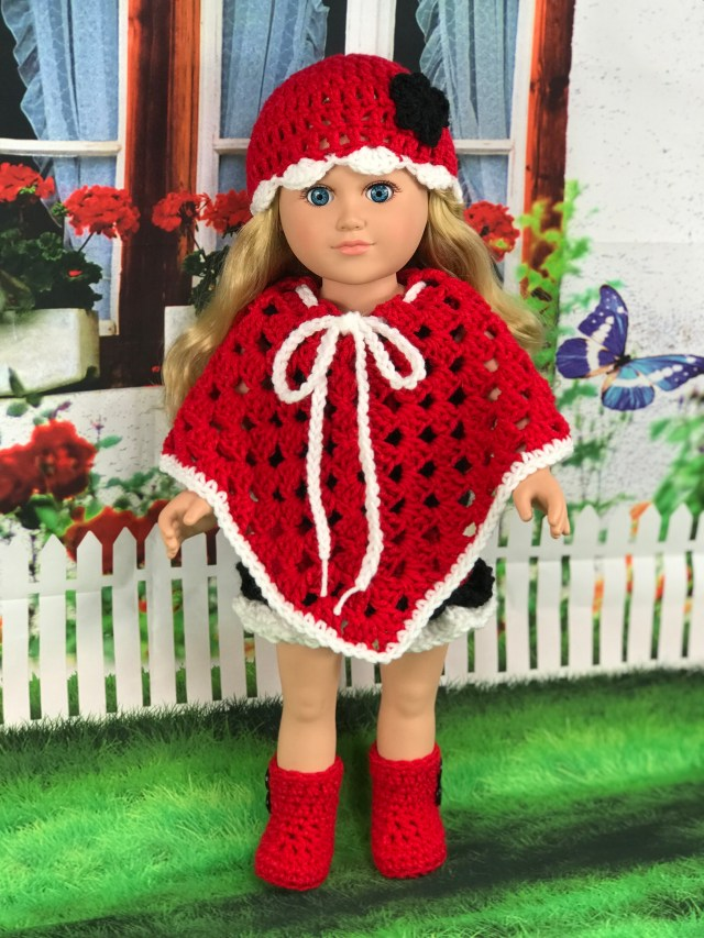 Free 18 Crochet Doll Poncho Pattern Archives Adoring Doll Clothes
