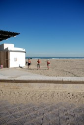 ...to sun bathing and swimming. My aunt declared that these couldn't be Spaniards--at least not Valencians.