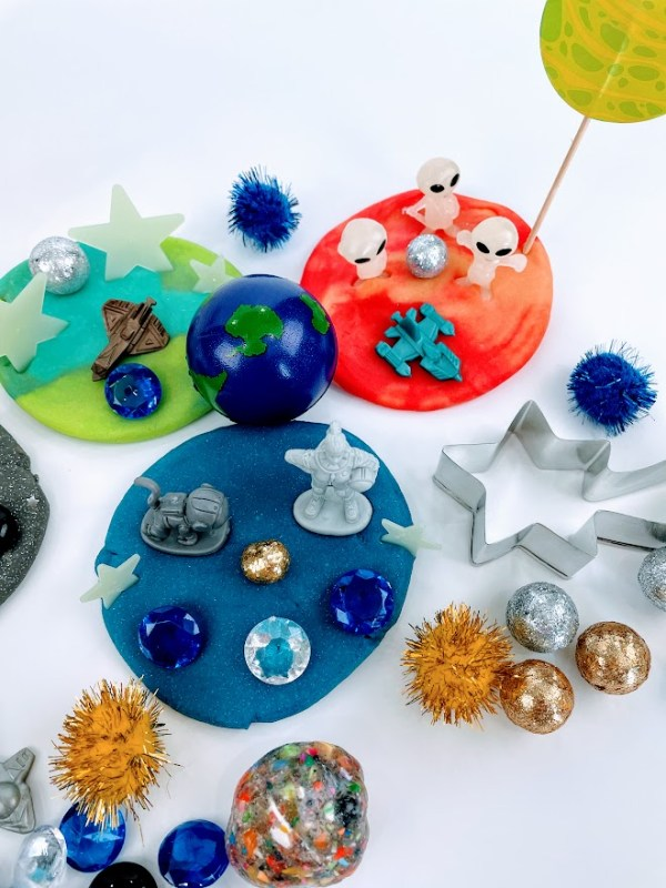 astronaut playdough kits