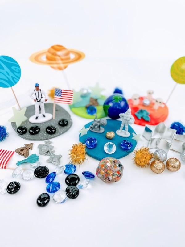 space ship playdough kit