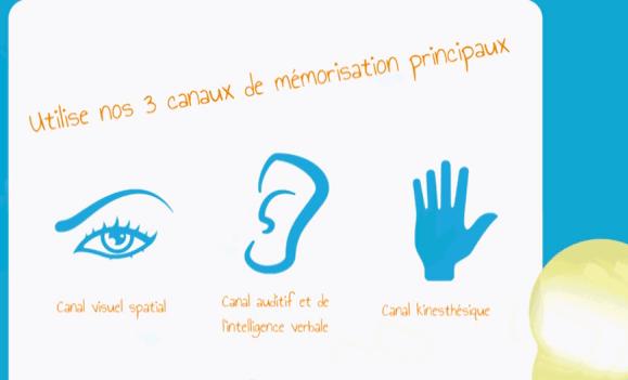3 canaux de mémorisation