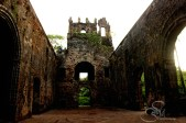 View of remains of Vasai fort..