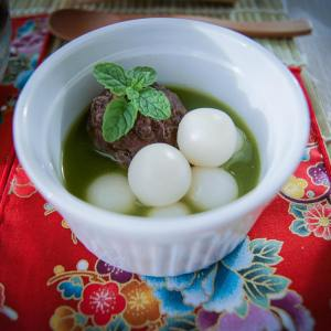 Matcha Shiratama Dango