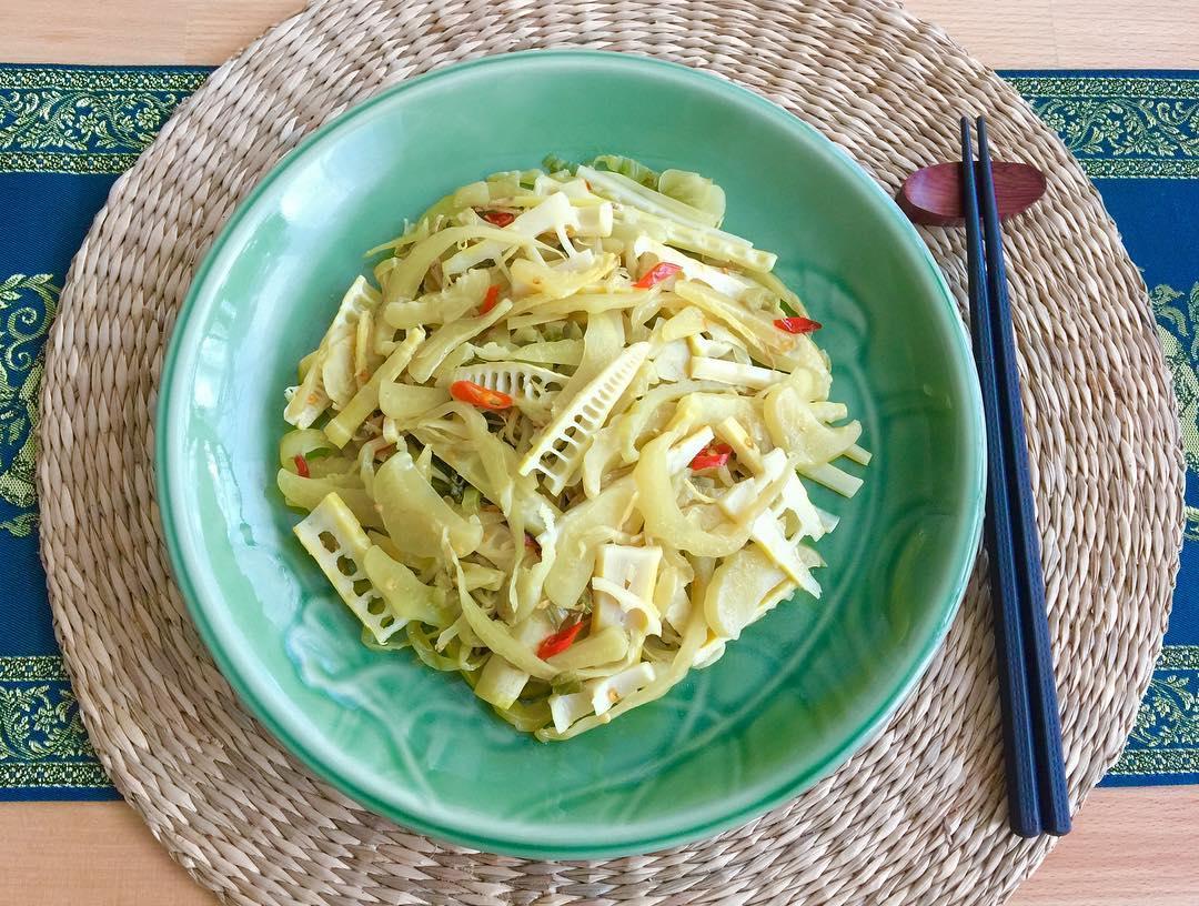 Stir-Fried Spring Bamboo Shots