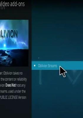 Oblivion Streams Kodi Addon