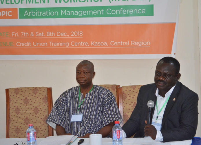 Mr Alex Nartey (right) leading the discussions