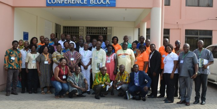 The inductees with some of the old members after the workshop
