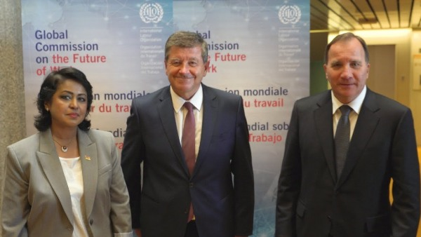Mrs Ameenah Gurib-Fakim, President of Mauritius, and ILO Director-General, Guy Ryder at the event