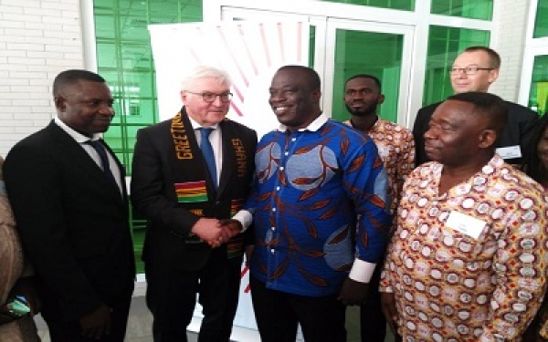 German President Steinmeier and Mr Bafuor Awuah, at the commissioning of the Centre in 2017