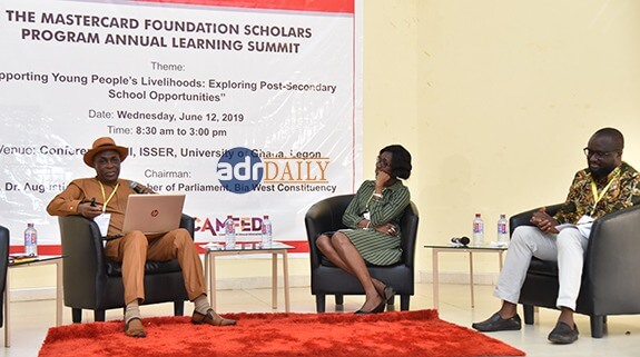 Mr Austin Gamey (left) making his presentation on the panel