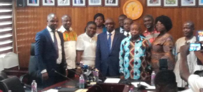Mr Agyeman-Manu and the Board Members
