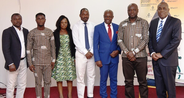 From right-Mr Austin Gamey, Mr Mark Badu-Aboagye, Mr Tweneboa-Koduah, Mr Musah-Khaleepha and other officials after the meeting