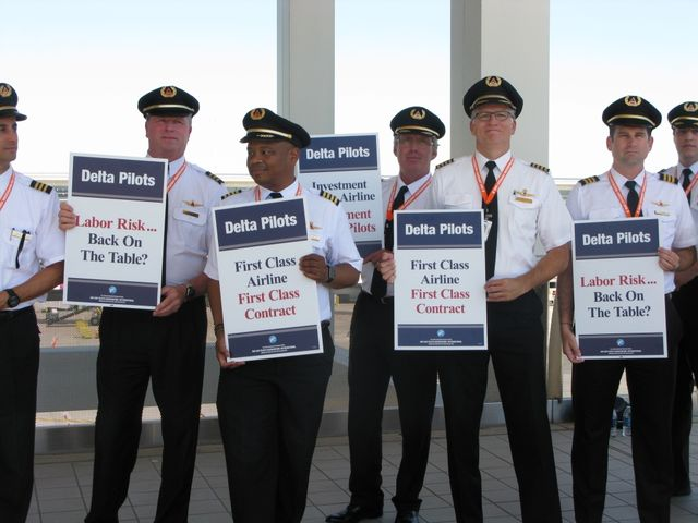 The pilots have held a series of protests