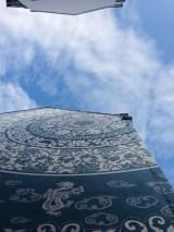 Porcelain hotel chinatown building architecture blue sky