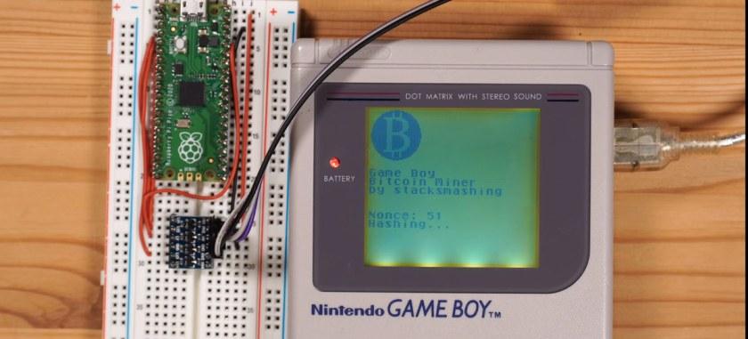 See an original Game Boy mining Bitcoin!
