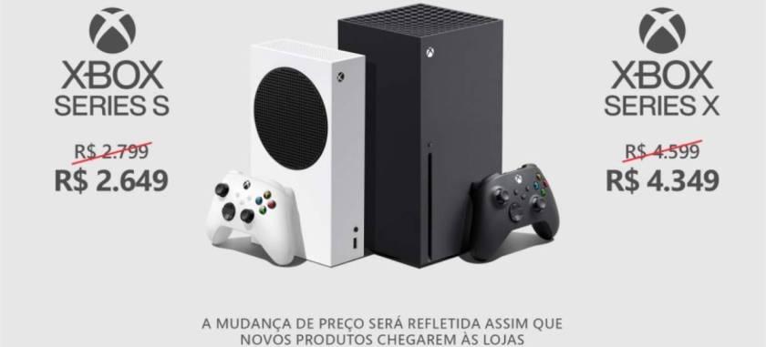 Microsoft Announces Xbox Series S Price Reduction |  X in Brazil