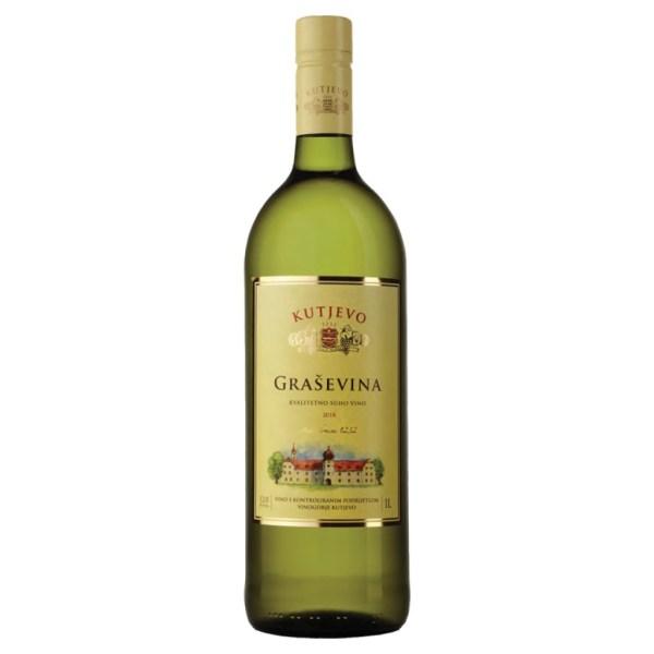 Kutjevo Graševina 1l   Adria-Klik Superbrza dostava Kutjevo Vina. Naruči namirnice, vina, delicije, craft pive, domaće darvone pakete eko bio organic. Graševina Kutjevo 1l, Kutjevačka graševina