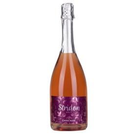 Vrhunski Rose Pjenušac Rose od sorte Pinot Crni Međimurje Rajko Cmrečnjak Rose pjenušac je proizveden od crnog pinota klasičnom šampanjskom metodom druge fermentacije u boci Naglašena je cvjetno voćna aroma posebno na malinu i kupinu Stridon brut odlikuje lijepo i dugotrajno perlanje sa brojnim mjehurićima Pjenušci online premium dostava