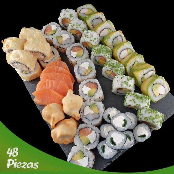 Promocion de 48 piezas del mejor sushi de Santiago