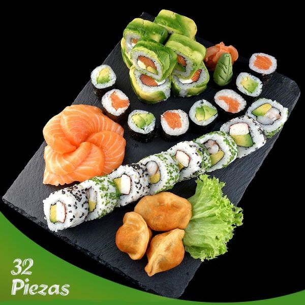 32v piezas de sushi Santiago centro