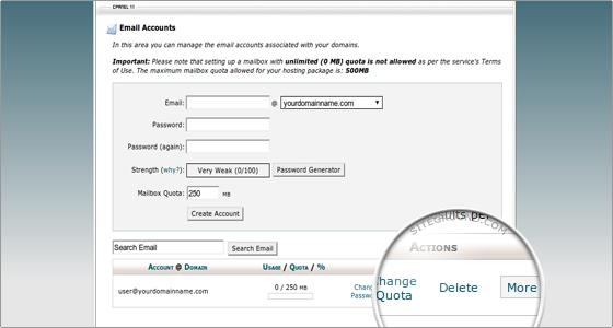 Kako obrisati email nalog u cPanel-u